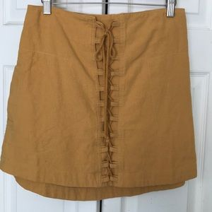 Free People Mustard Skirt